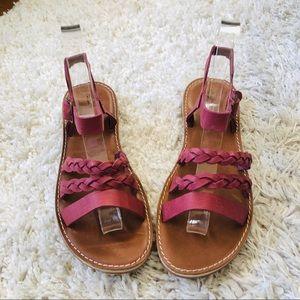 Olukai khaiko raspberry leather sandals 8